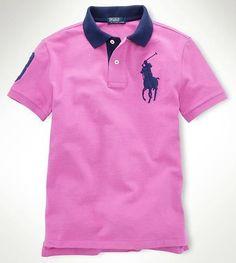 Ralph Lauren polo shirt for men 961 pink