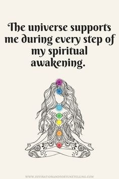 A spiritual awakening isn't always easy, but the universe will support you every step of the way. - new age spiritual quotes and affirmations