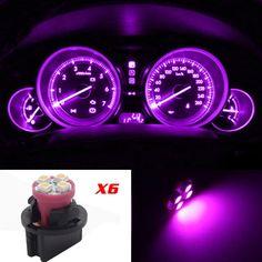Amazon.com: Partsam 10 Pack PC161 Twist Lock Gauge Instrument Panel Lights T10 LED Bulbs Pink Purple: Automotive