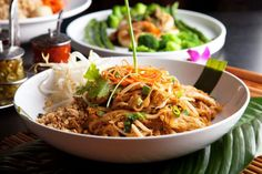 There are two secrets to great pad Thai: first, the noodle should not be overcooked - you want that chewy, al dente texture - and second, you need a good Pad Thai sauce which this recipe provides.