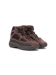 Adidas Originals Kids' Yeezy Desert Sneaker Boots In Brown Adidas Kids Shoes, Kid Shoes, Shoe Boots, Brown Boots, Brown Suede, Kids Yeezys, World Of Fashion, Kids Fashion, Sneaker Boots