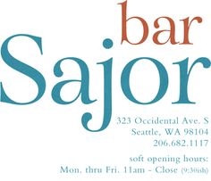 bar Sajor Matt Dillon has opened his first of several planned Pioneer Projects — a Mediterranean-inspired restaurant that is big, bright and airy. Soft open as of 4/9/13