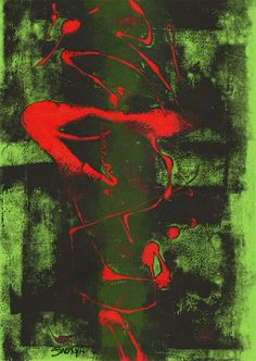 """2"" - Monotipo Painting, Art, Printmaking, Art Background, Painting Art, Kunst, Paintings, Performing Arts, Painted Canvas"