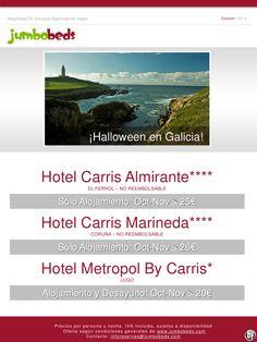 ¡Oferta Halloween en Galicia dsd 20€ pax/día en AD! ultimo minuto - http://zocotours.com/oferta-halloween-en-galicia-dsd-20e-paxdia-en-ad-ultimo-minuto/