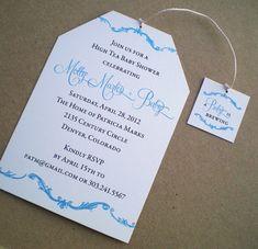 High Tea Baby Shower Invitation - Boy via Etsy