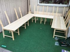 sticKUHlinchen: DIY Ikea Hack - aus 8 Stühlen wird eine große Eckbank bzw. Lounge