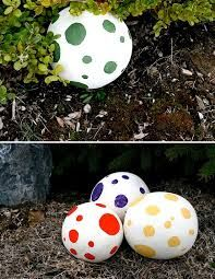 Put giant eggs around the yard, or at the front door, for the kids to find.  Some paper mache (scraps of paper dipped in a solution of 1/2 water 1/2 PVA glue), and a giant balloon = fun!  Even better, older kids can make them in the lead up to the party....