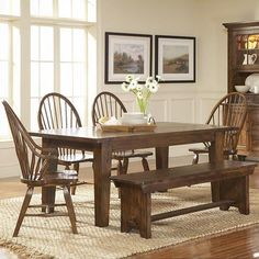 Create a country-feel to your dining room for Thanksgiving 2013 with this traditional dining set. #Fall #2013 #Thanksgiving