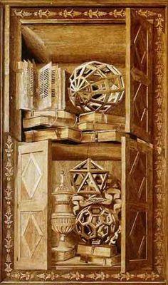 Significato dei Solidi Platonici - Fra' Giovanni da Verona - Tarsia con Geode, Icosaedro e Icosaedro Troncato - S. Maria in Organo - Verona