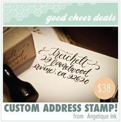custom address stamp!! love!!