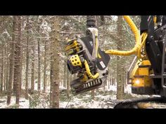Brand new kesla harvester head mounted on a Volvo 2013 excavator. Harvester, Volvo, Youtube