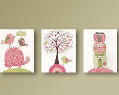 Vivero decoración niña rosa y decoración de la por GalerieAnais
