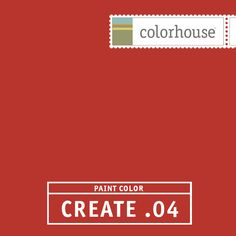 Colorhouse CREATE .04:  Mandarin red. Reminiscent of winterberries. Gets the party started. Perfect for dining rooms.