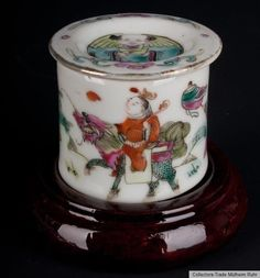 China 19. Jh. Qing - A Small Chinese Famille Rose Porcelain Pot - Cinese Chinois
