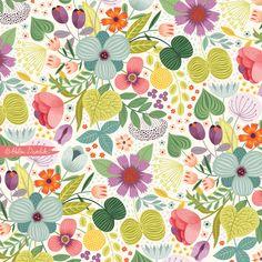 a fun abstract pattern by Helen Dardik!