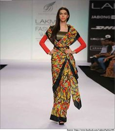 Dig vijay Singh Snakes and Ladder saree at the LKW Summer Resort 2014. draped…