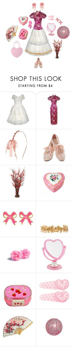"""""""APH Taiwan / Xiao Mei Wang (Hetalia)"""" by queenstormrider ❤ liked on Polyvore featuring Monsoon, Restricted, Mercana, Royal Albert, Fornash, Eugenia Kim and Forever 21"""