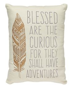 Collins 'Blessed Are the Curious' Throw Pillow Cricut, Cute Pillows, Throw Pillows, Cozy Blankets, Diy Pillows, Arrow Decor, Kids Room Design, My New Room, Dream Bedroom