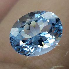 1.5 Carat 8.3X6.6 MM Natural Lustrous HIGH QUALITY Aquamarine Oval Cut Gemstones #AquamarineTraders