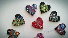 All these magnets are painted by hand. I put a lot of time, energy and love into each individual piece. You can buy the whole set or just one of them. Size: 5cm