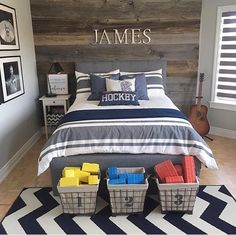38 Cool Teenage Boy Room Decor - Make your teenagers happy with the look of their bedrooms - allow them to decorate it themselves. Give your kids a sense of autonomy and watch them ta. Teenage Bedroom Decorations, Boys Bedroom Decor, Teen Bedroom, Kids Decor, Bedroom Red, Teen Boys Room Decor, Bedroom Furniture, Boy Sports Bedroom, Kids Bedroom Boys