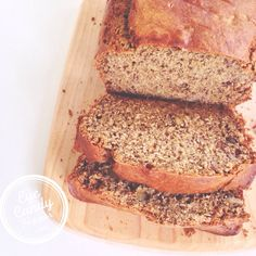 Organic gluten-free and low-sugar banana, walnut and maple bread (options: dairy-free or vegan) #realfood
