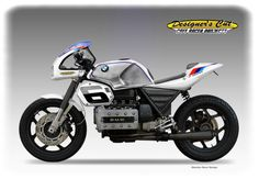 BMW K 100 RR CAFE' RACER by Oberdan Bezzi - some great details.