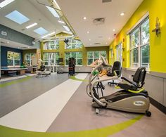 Brookside Healthcare and Rehabilitation Center, Abington, PA with ICON Interiors, Brooklyn, NY Clinic Design, Gym Design, Healthcare Design, Rehabilitation Center Architecture, Gym Room, Hospital Design, Floor Patterns, Physical Therapy, Apartment Design