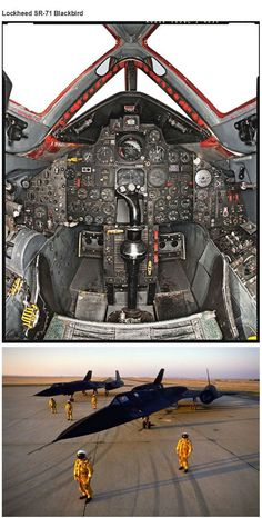 STRANGE STEALTH MILITARY AIRCRAFT WITH PILOTS VIEW OF THE COCKPIT! - SR-71 BLACKBIRD!