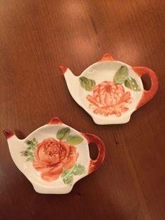 Hand painted tea bag holders