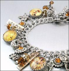 Autumn Fairies Charm Bracelet Silver Charm by BlackberryDesigns, $97.00