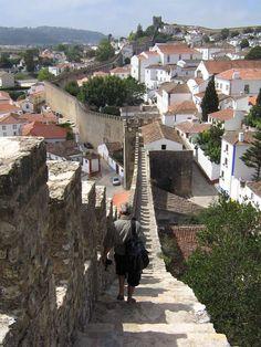 Obidos Wall, Obidos, Lisbon Region, Portugal