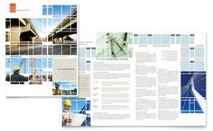 Civil Engineers Brochure Design Template by StockLayouts