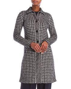 Sonia Rykiel Gingham Tweed Coat