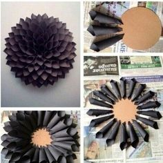 Nice >> The right way to Make a Paper Wreath - Dahlia Impressed Underneath $10 to Make!