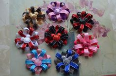 Minnie Mouse Birthday Favor Hair Bows - Red and Black Minnie Mouse Hair Bows Inspired by Minnie Mouse   You pick any :. $7.00, via Etsy.