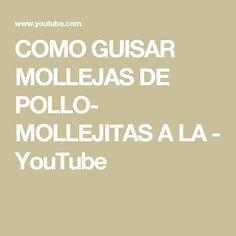 COMO GUISAR MOLLEJAS DE POLLO- MOLLEJITAS A LA - YouTube