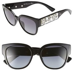 bd4cf8bb146 Dior  Mercurial  54mm Crystal Encrusted Sunglasses