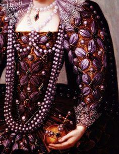 Portrait of Queen Elizabeth I, Detail  by unknown artist