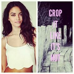 Two Cute Boutique : Scalloped Crop Top .