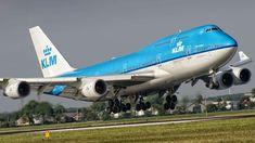 KLM Boeing 747-400 arriving - photo: Jan Ittensammer