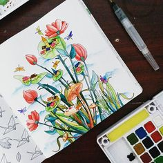 Hows Your Holiday Happynewyear 2016 Art We Inspire Illustration Watercolor