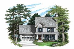 Country Exterior - Front Elevation Plan #927-49 - Houseplans.com