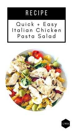Healthy Lunches For Work, Healthy Eating Recipes, Low Calorie Recipes, Healthy Chicken Recipes, Gluten Free Recipes, Pasta Recipes, Healthy Foods, Salad Recipes, Arbonne Shake Recipes