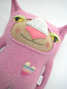 Pink Sweater Kitty by sweetpoppycat on Etsy