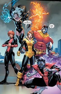 X-Men artwork from Marvel comics Marvel Comics Art, Marvel Comic Books, Comic Book Heroes, Marvel Dc Comics, Marvel Heroes, Comic Books Art, Comic Art, Book Art, Comic Book Superheroes