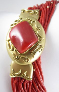 Outstanding 18K Red Coral 20 Strand Necklace (item #1135562, detailed views)