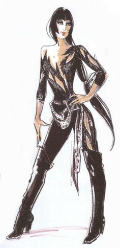 Cher's Catsuit by Bob Mackie