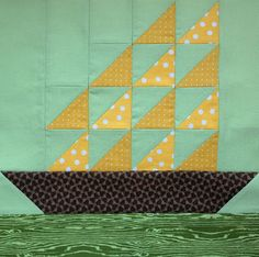Starwood Quilter: Tall Ships Quilt Block                                                                                                                                                     More