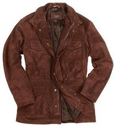 Forzieri Brown Four Pocket Italian Suede Leather Jacket